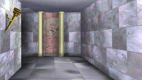 Marmorväggar av den forntida labyrinten 06 Fotografering för Bildbyråer