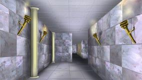 Marmorväggar av den forntida labyrinten 07 Royaltyfri Foto