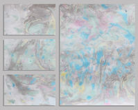 Marmorvisitenkarten Lizenzfreies Stockfoto