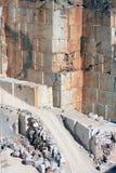 Marmorwände im portugiesischen Steinbruch nahe Borba Stockbild