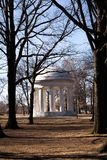 Marmorweltkriegmonument auf dem Mall in Washington D C Stockfotos