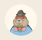 Marmot hipster Royalty Free Stock Photography