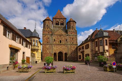 Marmoutier Abbaye Saint-Etienne. In Alsace, France Stock Images