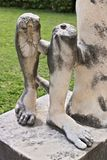 Marmur nogi Romańska rzeźba obrazy royalty free