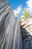 Marmur skały, marmurowy łup w dzikim Fotografia Royalty Free