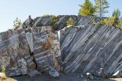 Marmur skały w dzikim Obraz Royalty Free