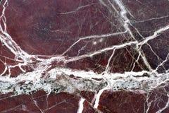 marmur z czerwonymi żyłami Fotografia Stock