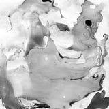 Marmurkowaty Czarny I Biały Abstrakcjonistyczny tło Ciecz Marmurowy Illistration obrazy royalty free