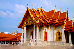 Marmurowa Świątynia, Wat Benchamabophit Zdjęcia Royalty Free