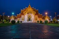 Marmurowa świątynia, Wat Benchamabopitr Dusitvanaram Bangkok TAJLANDIA Obraz Royalty Free