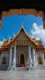 Marmurowa świątynia, Wat Benchamabopitr Dusitvanaram Bangkok THAIL zdjęcia royalty free