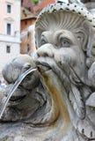 Marmurowa fontanna w panteonie, Rzym Fotografia Royalty Free
