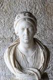 Marmurowa głowa Grecka kobieta, Antyczna agora, Ateny, Grecja Zdjęcie Royalty Free
