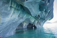 Marmurowa katedra, generał Carrera Jezioro, Chile Zdjęcia Royalty Free