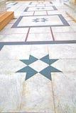 marmurowa mozaika w starej miasto podróży Zdjęcie Stock