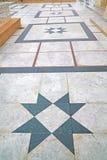 marmurowa mozaika w starym mieście Obraz Royalty Free