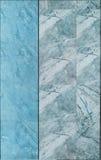 Marmurowa płytki ściany tekstura w błękicie i szarość barwimy Obrazy Royalty Free