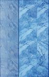 Marmurowa płytki ściany tekstura w błękitnym kolorze Zdjęcia Stock