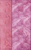 Marmurowa płytki ściany tekstura w menchia kolorze Zdjęcie Royalty Free