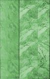 Marmurowa płytki ściany tekstura w zieleni Obrazy Stock
