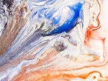 Marmurowa ręka malujący tło Fotografia Stock