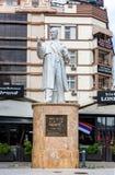 Marmurowa rzeźba Metodija Andonov Chento, Jugosłowiański i Macedoński, polityk, faszysta, w Skopje, Macedonia fotografia stock