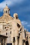 Marmurowa statua Catania, Sicily, Włochy fotografia royalty free