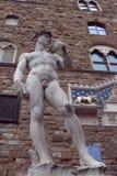 Marmurowa statua David, Fiorence, Włochy obraz royalty free