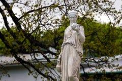 Marmurowa statua Grecka bogini Hera lub obraz stock