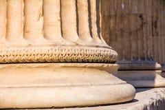Marmurowa szpaltowa baza Erechtheion, Ateny Zdjęcie Stock