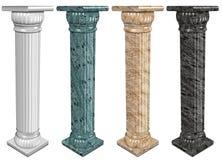 Marmurowe kolumny ilustracji