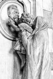Marmurowe statuy w cmentarzu Zdjęcia Stock