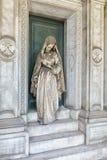 Marmurowe statuy w cmentarzu Fotografia Royalty Free
