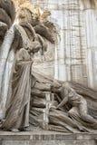 Marmurowe statuy w cmentarzu Obraz Stock