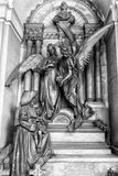 Marmurowe statuy w cmentarzu Fotografia Stock