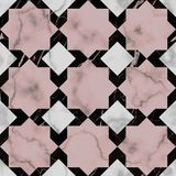 Marmurowej luksus gwiazdy Bezszwowy wzór Zdjęcie Stock
