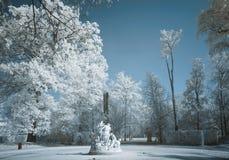 Marmurowej statuy infrared Obraz Royalty Free