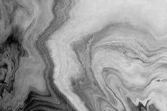 Marmurowej tekstury abstrakcjonistyczny tło Z szarą skala Obrazy Stock