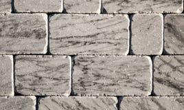 Marmurowej tekstury dekoracyjna cegła, ścian płytki robić naturalny kamień Materiały budowlani Zdjęcie Stock