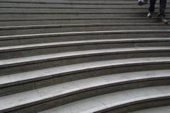 Marmurowi schodki w Edynburg obrazy royalty free