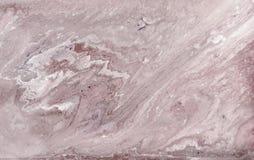 Marmurowy abstrakcjonistyczny akrylowy tło Lekka marmoryzaci grafiki tekstura Agat czochry wzór Złoto proszek Zdjęcie Royalty Free