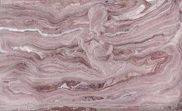 Marmurowy abstrakcjonistyczny akrylowy tło Lekka marmoryzaci grafiki tekstura Agat czochry wzór Złoto proszek Fotografia Royalty Free