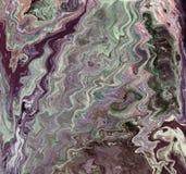 Marmurowy abstrakcjonistyczny akrylowy tło Marmoryzaci grafiki tekstura Agat czochry wzór Złoto proszek Fotografia Stock