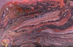 Marmurowy abstrakcjonistyczny akrylowy tło Różowa i błękitna marmoryzaci grafiki tekstura Agat czochry wzór Złoto proszek Zdjęcie Stock