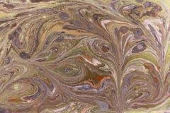 Marmurowy abstrakcjonistyczny akrylowy tło Różowa i błękitna marmoryzaci grafiki tekstura Agat czochry wzór Złoto proszek Zdjęcia Royalty Free