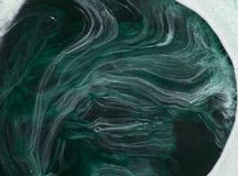Marmurowy abstrakcjonistyczny akrylowy tło Natury marmoryzaci grafiki zielona tekstura Obraz Royalty Free