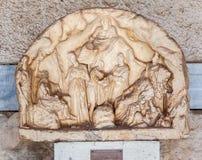 Marmurowy Bas Reliefowy Agory Muzeum Ateny Obrazy Royalty Free