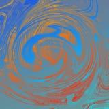Marmurowy ciekły abstrakcjonistyczny tło z obraz olejny smugami royalty ilustracja