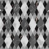 Marmurowy Czarny I Biały Luksusowy Geometryczny Bezszwowy wzór ilustracja wektor