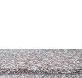 Marmurowy kamienny stołowy odgórny odosobniony na białym tle - może używać dla pokazu zdjęcie stock